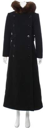 Calvin Klein Collection Hooded Long Coat