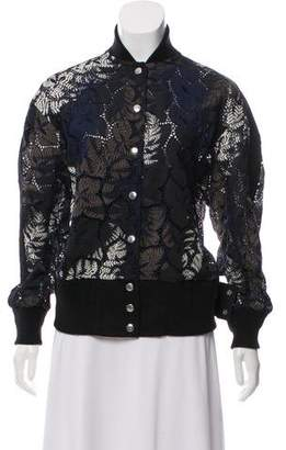 Sacai Printed Lace-Accented Jacket