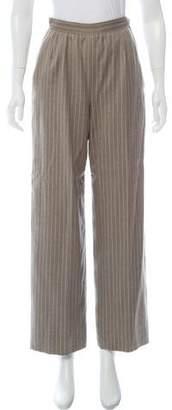 Valentino Striped High-Rise Pants