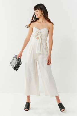 ASTR the Label Mara Tie-Front Linen Jumpsuit