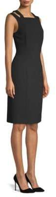 BOSS Daphima Crepe Crossover Strap Dress