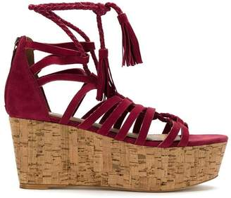 Nk leather platform sandals