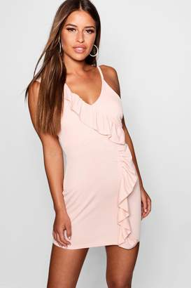 boohoo Petite Ruffle Bodycon Mini Dress