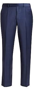 Ermenegildo Zegna Men's Wool Button-Tab Pants