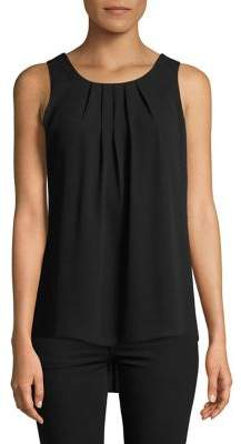 Context Pleated Sleeveless Top
