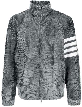 Thom Browne 4-Bar Intarsia Dyed Fur Jacket