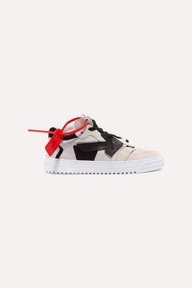 Off-White Suede And Leather Low-top Sneakers