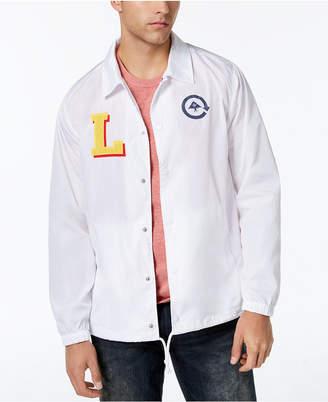 Lrg Men Big L Applique Logo-Print Coaches Jacket