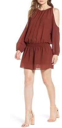 Bishop + Young Cold Shoulder Blouson Mini Dress