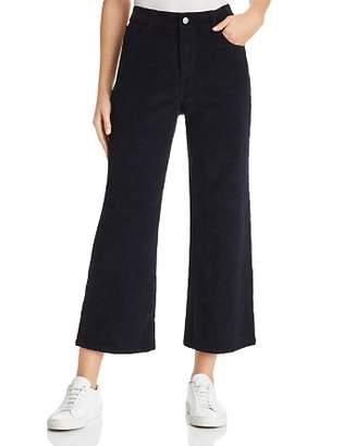 DL1961 Hepburn Wide Leg Corduroy Jeans in Night Sky