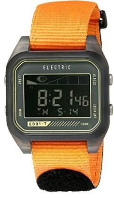 Electric Unisex EW0120020071 Digital Sport Watch with Orange Band