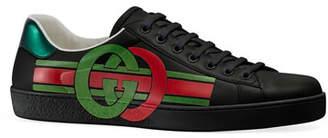 Gucci Men's GG Metallic Logo Sneakers