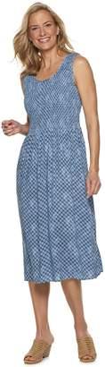 Croft & Barrow Women's Print Challis Midi Dress