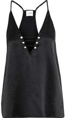 CAMI NYC The Riley Faux Pearl-embellished Silk-charmeuse Camisole