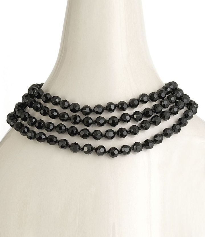 Carolee jet bead necklace