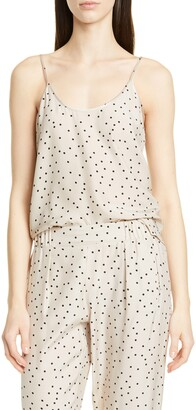 ATM Anthony Thomas Melillo Polka Dot Silk Camisole