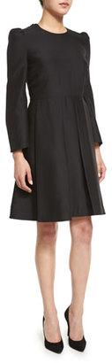 Co Box-Pleat Long-Sleeve Dress, Black $1,170 thestylecure.com