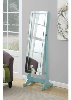 Coaster Company Jewelry Armoire, Light Blue Frame and Legs