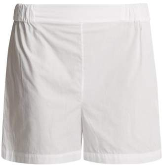 Three Graces London - Alcina High Rise Cotton Pyjama Shorts - Womens - White