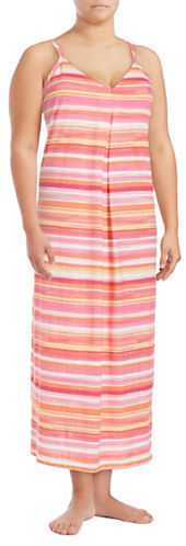 Lauren Ralph LaurenLauren Ralph Lauren Striped Cotton Nightgown