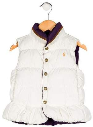 Ralph Lauren Girls' Reversible Puffer Vest