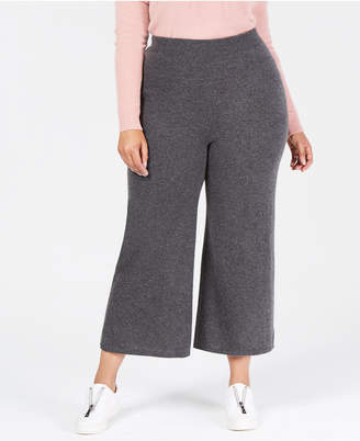 Charter Club Plus Size Pure Cashmere Knit Culotte Pants