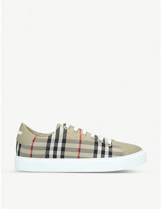 Burberry Albridge canvas and leather trainers