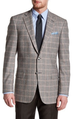 Hart Schaffner Marx Grey Plaid Two Button Notch Lapel Wool Blend Sport Coat $595 thestylecure.com
