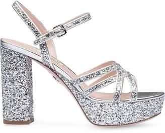 f9f53dfdf83 Miu Miu Open Toe Women s Sandals - ShopStyle