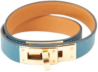 Hermes Kelly Double Tour Green Leather Bracelets