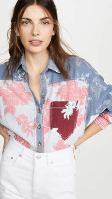 Free People Chasing Waves Button Down