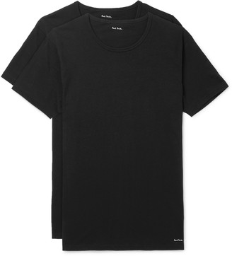 Paul Smith Two-Pack Slim-Fit Cotton-Jersey T-Shirts - Men - Black