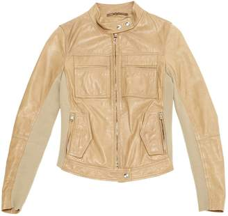 Trussardi Camel Leather Jackets