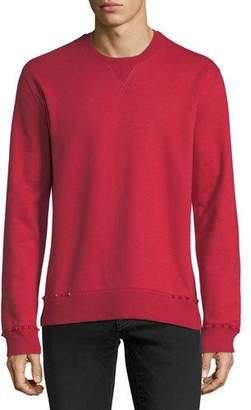Valentino Studded-Trim Jersey Sweatshirt