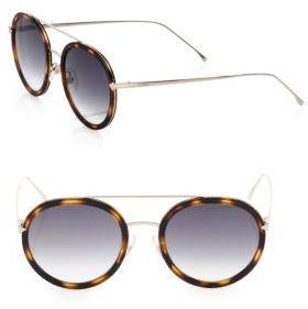 Fendi 51MM Round Sunglasses $480 thestylecure.com