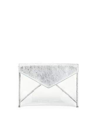 Rebecca Minkoff Leo Transparent See-Through Envelope Clutch Bag