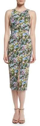 Cushnie Et Ochs Floral Open-Back Sleeveless Dress, Floral $1,550 thestylecure.com