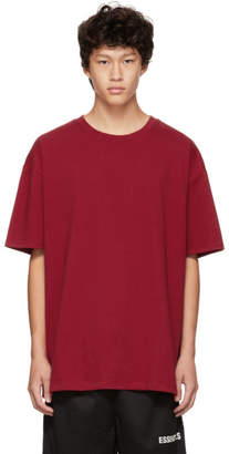 Essentials Red Boxy Graphic Logo T-Shirt