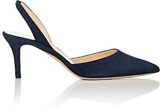 60d0a93fb Barneys New York Women's Suede Slingback Pumps - Navy