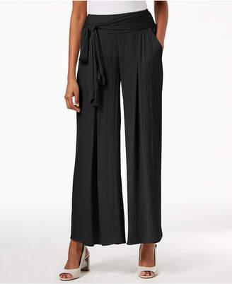 Alfani Wide-Leg Tie-Waist Pants