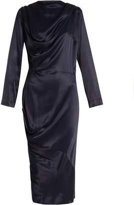VIVIENNE WESTWOOD ANGLOMANIA New Fond asymmetric satin dress