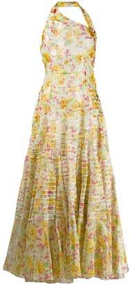 Christian Dior Pre-Owned flower print maxi dress