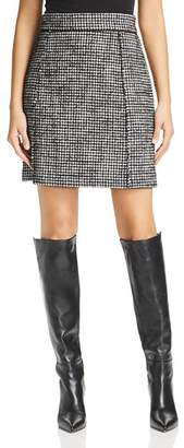 Marella Bice Houndstooth Tweed A-Line Skirt