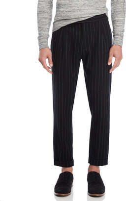 Beautiful Ful Black Pinstripe Wool Pants