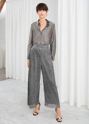 And other stories Pleated Metallic Pants