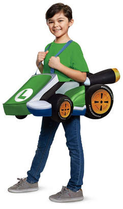 BuySeasons Super Mario Bros. Luigi Kart Big Boys Costume