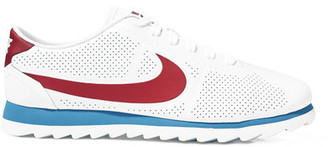 Nike - Cortez Ultra Moire Perforated Leather Sneakers - White $125 thestylecure.com