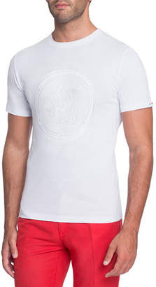 Stefano Ricci Embroidered Tiger Graphic T-Shirt