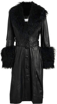 Saks Potts Foxy Shearling Patent Leather Coat