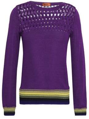 Missoni Crochet-trimmed Knitted Top